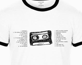 Mixtape T-Shirt OASIS by Lissome Art Studio