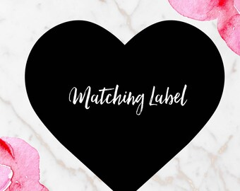 Matching Label for PARIS CHANEL THEMED Bridal Shower