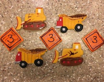 Dirty Garbage and Dumpster Truck Cookies