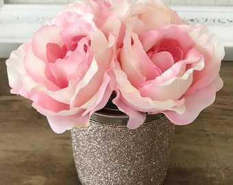 Faux Rose Arrangement for Spring