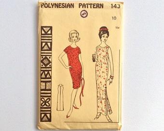 Uncut 1950s Dress Sewing Pattern : Polynesian 143
