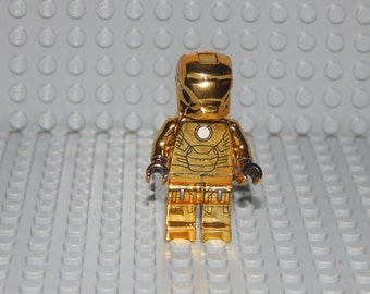 1 Marvel Mini Figure iron man chrome gold, NEW