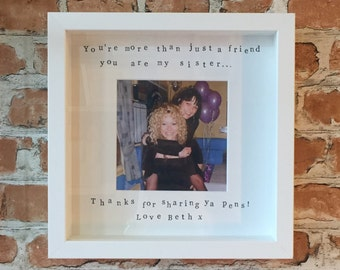 Ink Printed Friendship Box Photo Frame