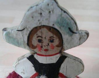 Kitsch crochet Dutch girl egg cosy