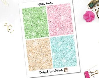 EASTER Glitter Headers/Planner Stickers for Erin Condren Lifeplanner/Happy Planner Stickers/Glitter Header/Glitter Stickers