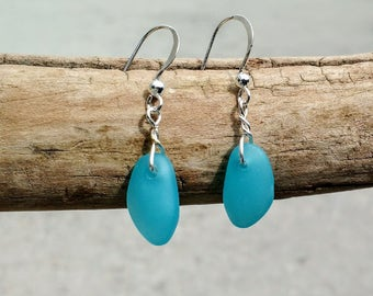 Sea-glass earrings