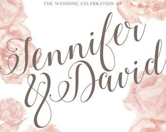 Elegant Roses wedding stationary set