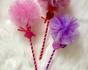 Valetines day wands/ queen of hearts wand/ costume wands/ heart wands