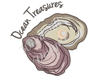 Ocean Treasures - Machine Embroidery Design