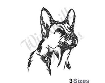 German Shepherd - Machine Embroidery Design