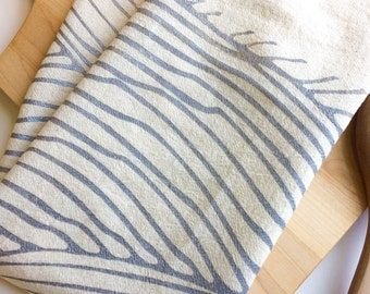 Tea Towel, Waves, Flour Sack Towel, Kitchen, Tea Towels, All Natural Cotton Towel