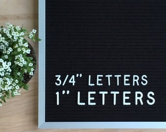 """letter set for felt letterboard (290 pieces) - 3/4"""" and 1"""""""