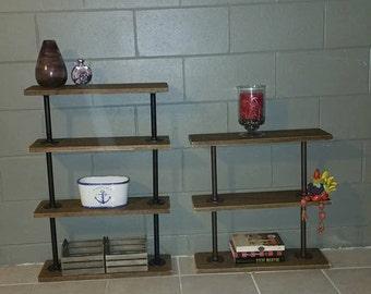 Steampunk Bookcase, Farmhouse Bookshelf, Industrial Bookcase, Pipe Bookcase, Farmhouse Shelf, Pipe Shelf, Pipe Shelves, Urban (4 shelves)