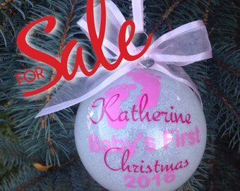 Baby's First Christmas ornament, personalized  baby ornament ,First Christmas, Baby's   Ornament, cyber monday sale ,babys first christmas