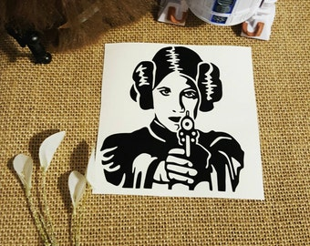 Princess Leia Car Decal Star Wars Decal Star Wars Sticker Star Wars Car Decal Leia Decal Disney Decal Disney Car Decal Disney Sticker