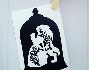 Beauty and the Beast Car Decal Beauty and the Beast Decal Beauty and the Beast Sticker Disney Car Decal Disney Decal Disney Sticker Disney