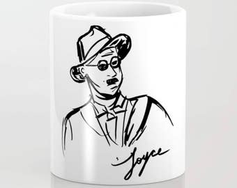 James Joyce Portrait Author Mug