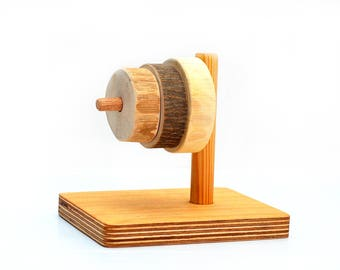 Wooden sorter, First sorting wood toy, Montessori inspired Primary tree rings, Wood baby gift, Waldorf stacking and counting learning game
