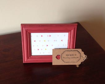 "Red Picture Frame 6""x4"""