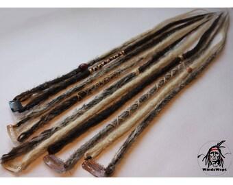 Boho synthetic dreadlocks on clips dread dread Dreadlock