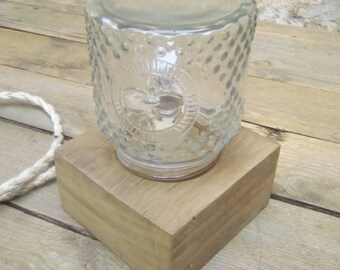 Glass jar table light