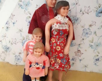 Vintage Lundby Doll Family