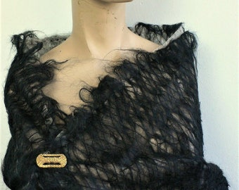 Sale Couture dress fabric unusual dramatic fabric fringed // BY THE YARD // cape fabric etc