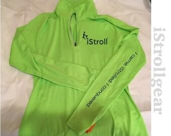 Women's 1/4 Zip Green Jacket