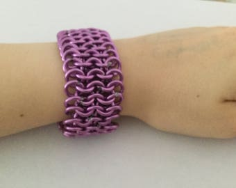 Adjustable Aluminium Chainmail Wrist Cuff