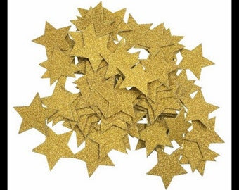 Gold Stars Table Confetti Bag of 100 Pieces