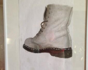 Retrospective Dc Martens framed original drawing