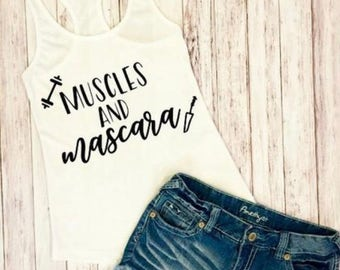 Muscles and Mascara Workout Tank Top - Work Out Tank-