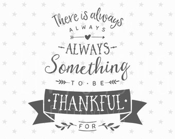 Thankful SVG Thankful SVG file Thankful SVG Cut File Thanksgiving Decor svg Thankful Cricut file Autumn svg Fall svg Thanksgiving svg files