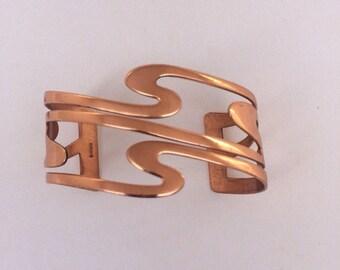 Vintage 1960's Mid Century Renoir Copper Cuff Bracelet
