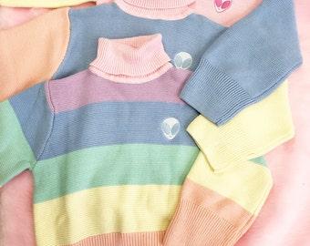 Rainbow pastel kawaii sweater 90s tumblr