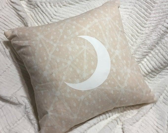 Pink Galaxy Moon Pillow Case