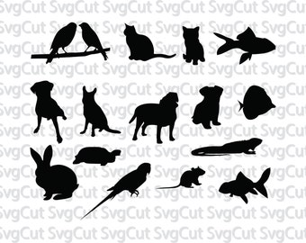 Pets collection Svg, Animals Svg, Animals Designs for Silhouette, cutting file, Animals Svg, Cricut Files Silhouette, vinyl clipart
