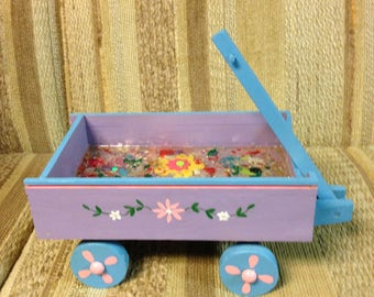 Re-Done It springtime wooden wagon