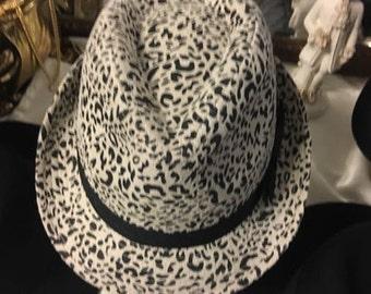 Black and Cream Printed Hat