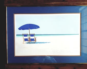 Steven Schneider Signed Lithograph Gulf Coast