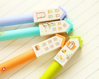 Gel pen small house available in 4 different designs and colors listed here