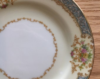 Noritake Chevonia bread plate made in occupied Japan