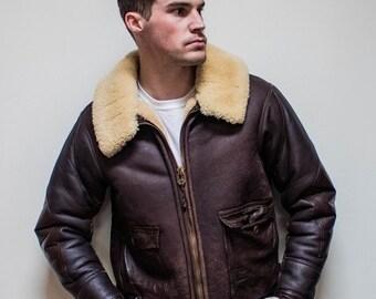 navy flight jacket – Etsy NO