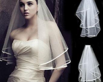 Holly Veil - Beautiful Ribbon Edge Veil