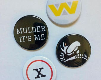Sci-Fi Pin Back Buttons