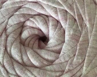 Nif T tshirt yarn, recycled, spaghetti yarn, trapillo, cotton blend, crochet, knitting, macrame 400g Pink Marle