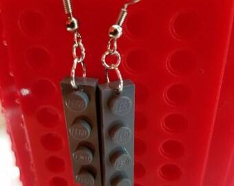 Grey LEGO Earrings