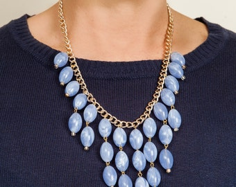 Beautiful light violet beaded necklace.