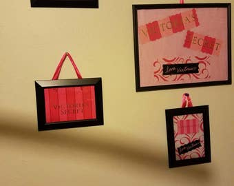 VICTORIA'S SECRET bags to pictures framed handmade