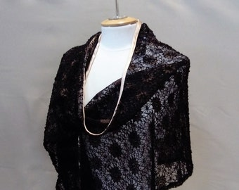 Chale, lace stole, accessory, shawl, lace, Lace shawl,